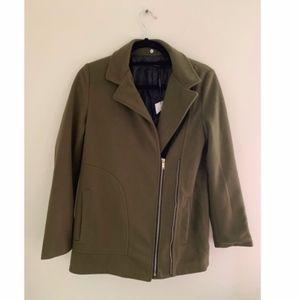 Olive Green, Soft & loose fit Fall Coat. Zara